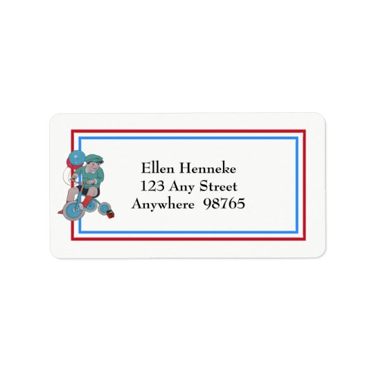 1940s Children Address Label