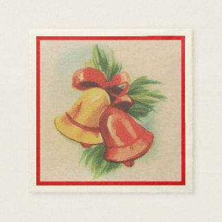 1940s Christmas Bells Paper Napkin