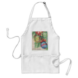 1940s Christmas Ornaments Standard Apron