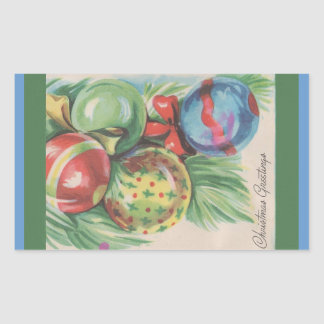 1940s Christmas Ornaments Stickers