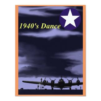 1940's Dance Invitations