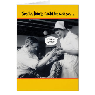 1940s Dentist Things Could Be Worse 50th Birthday Greeting Card