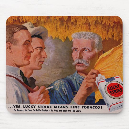 1940s Lucky Strike Means Fine Tobacco Mouse Mat