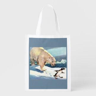 1940s polar bear and penguin