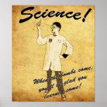 1940s Retro Science Poster
