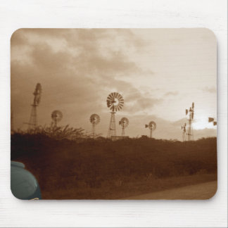 1940's Sepia Windmill Farm w/ colorized car fender Mouse Mat