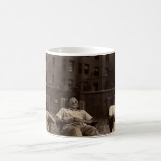 1940s three people relaxing on the roof coffee mug