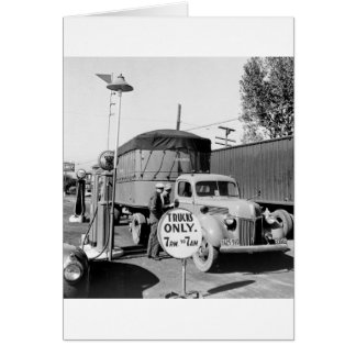 1940s Truck Stop Card