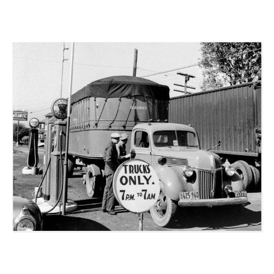 1940s Truck Stop Postcard