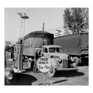 1940s Truck Stop Poster