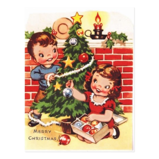1940s Vintage Merry Christmas Postcard