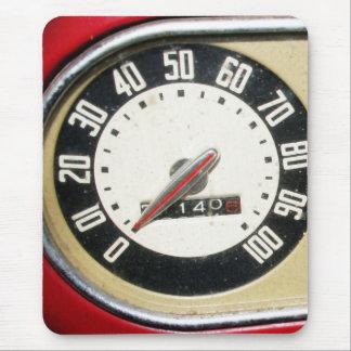 1940s Vintage Speedometer Closeup Mouse Mat