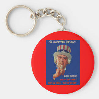 1940s warning from Uncle Sam Key Ring