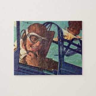 1940s WWII dogfight in the air Jigsaw Puzzle