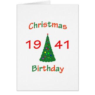 1941 Christmas Birthday Greeting Card