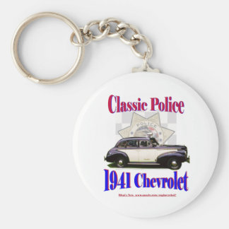 1941 Classic Police Chevrolet Basic Round Button Key Ring