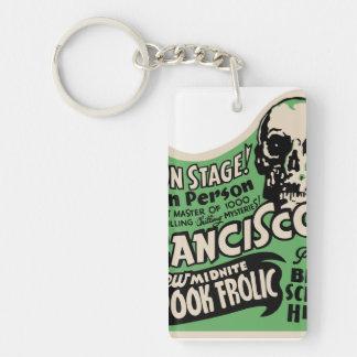 1941 Francisco Spook Frolic Double-Sided Rectangular Acrylic Key Ring