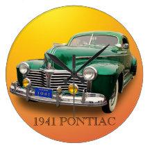 1941 PONTIAC ROUND WALL CLOCK
