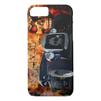 1941 Rat Rod Pickup with skulls on fire iPhone 7 Case