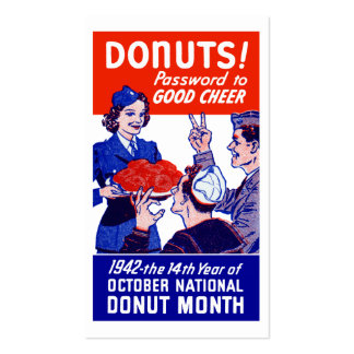 1942 Donut Month Pack Of Standard Business Cards