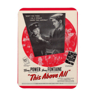 1942 This Above All movie poster Rectangular Photo Magnet