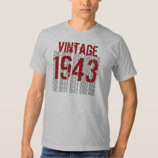 1943 Birthday Year  The Best 1943 Vintage W1988 Shirts