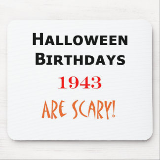 1943 halloween birthday mouse pads