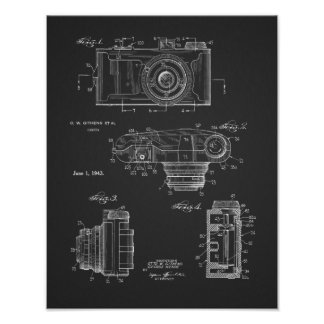 1943 Vintage Camera Patent Art Drawing Print