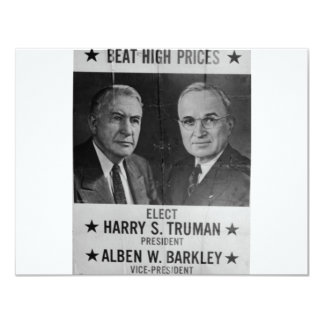 1944 Hoover - Barkley 11 Cm X 14 Cm Invitation Card