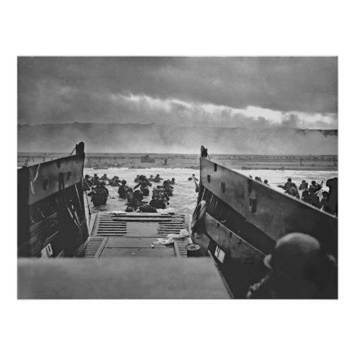 1944 Invasion of Normandy Beach Poster