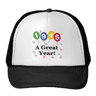 1945 A Great Year Birthday Mesh Hats