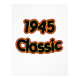 1945 Classic 21.5 Cm X 28 Cm Flyer