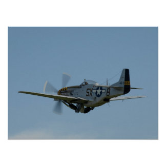 1945 North American P-51D Mustang. Poster