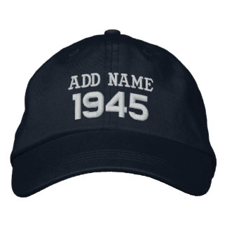 1945 or Any Year 70th Birthday A11 BLACK and WHITE Baseball Cap