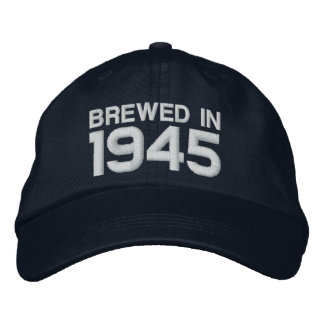 1945 or Any Year 70th Birthday A8 BLACK and WHITE Baseball Cap