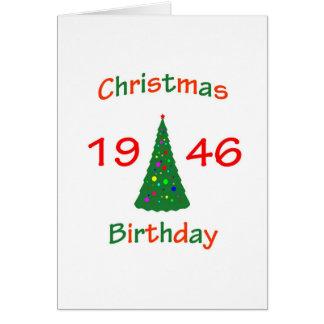 1946 Christmas Birthday Card