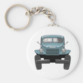 1946 Dodge Powerwagon Basic Round Button Key Ring