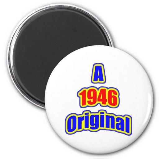 1946 Original Bl Red 6 Cm Round Magnet