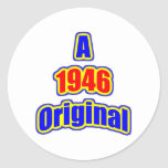 1946 Original Bl Red Round Sticker