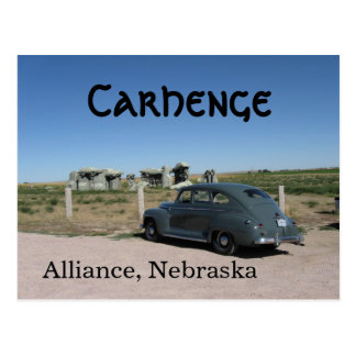 1946 Plymouth at Carhenge Postcard