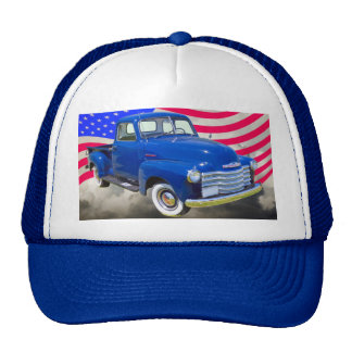 1947 Chevrolet Thriftmaster Pickup With US Flag Cap
