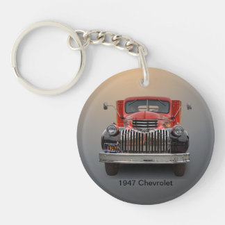 1947 CHEVROLET TRUCK Single-Sided ROUND ACRYLIC KEY RING