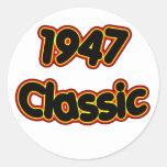 1947 Classic Round Sticker