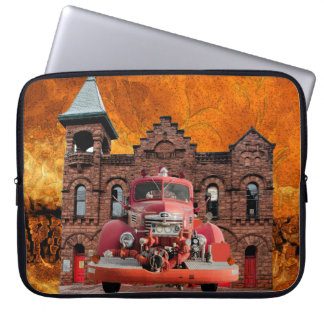 1947 International Fire Truck Design Laptop Sleeve
