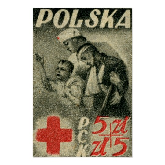 1947 Polish Red Cross Poster