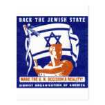 1947 Zionist Poster Postcard