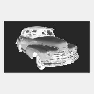 1948 Chevrolet Fleetmaster Antique Car Art Rectangular Sticker