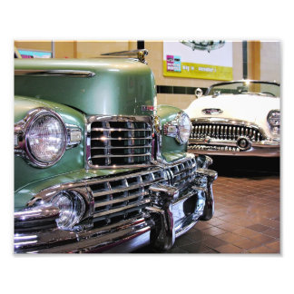 1948 Lincoln Convertible & !953 Buick Skylark Art Photo