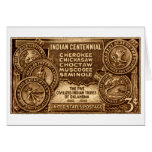 1948 Oklahoma Indian Centennial Stamp Note Card