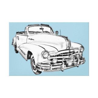 1948 Pontiac Silver Streak Car Illustration Gallery Wrapped Canvas